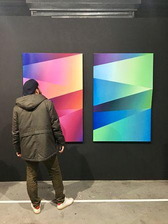 Oeuvre sur tôle Dr Colors