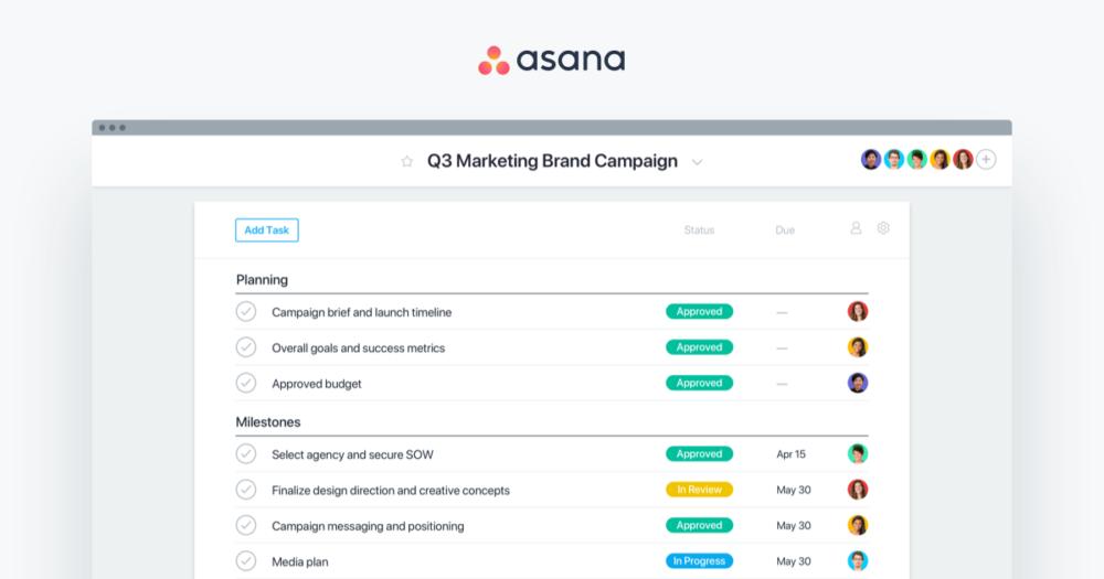 Asana : outil gestion de projet en agence web