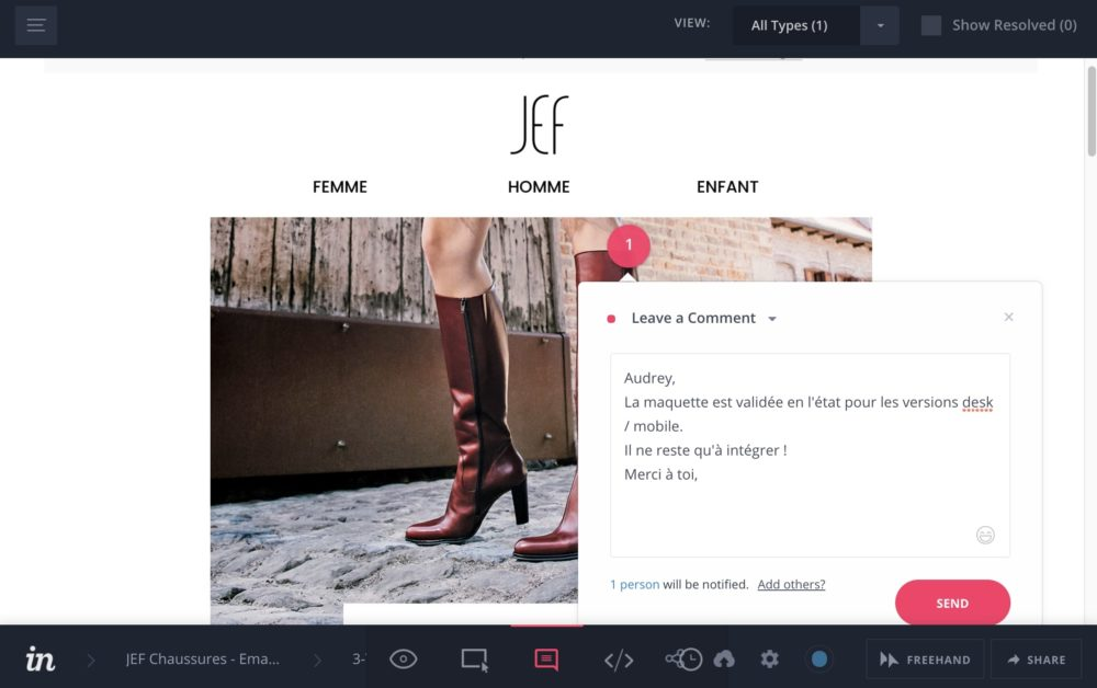 invision : travail collaboratif