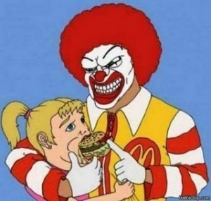 Ronald-McDonalds violento su bambina