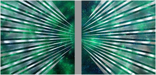 Spazio-luce-verde,-Dittico,-Acrilico-su-tela,-2010