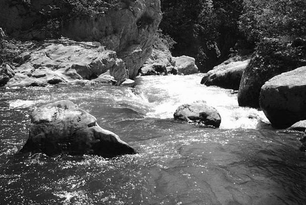 La forza del fiume Aterno.