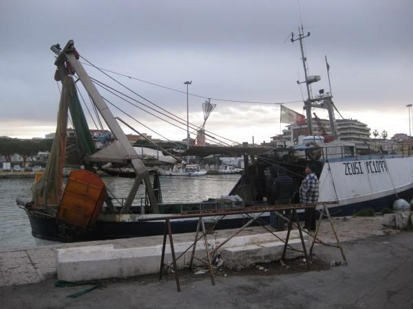 Pescatori appena rientrati dalla pesca