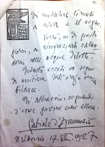 Lettera originale, seconda pagina