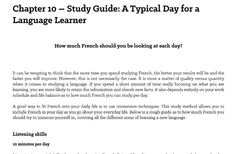Fluent in French