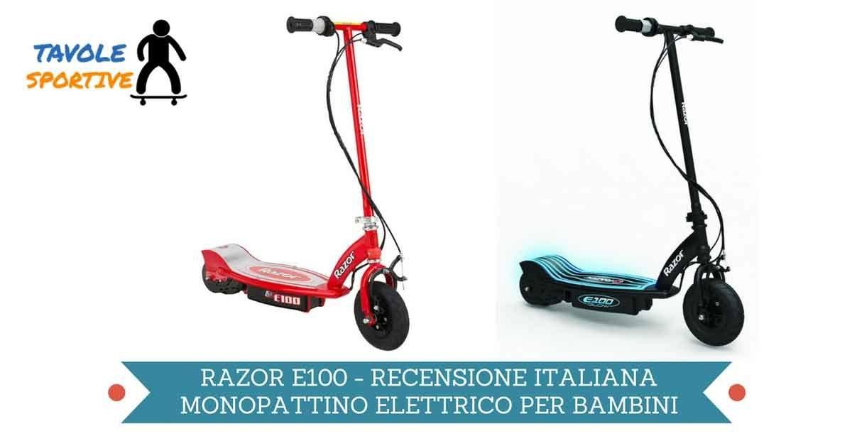 Razor E100 Monopattino Elettrico Recensione Italiana