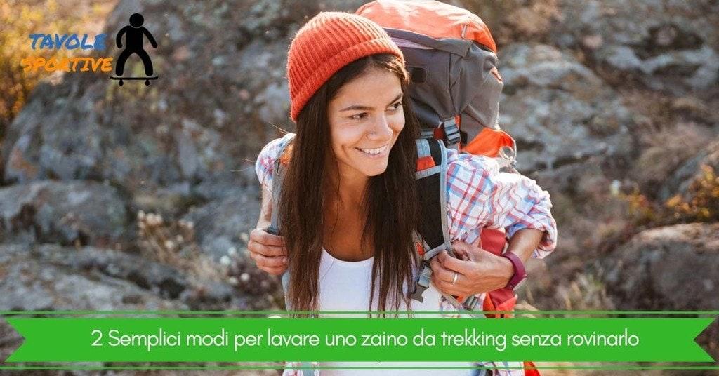 2 Semplici modi per lavare uno zaino da trekking senza rovinarlo