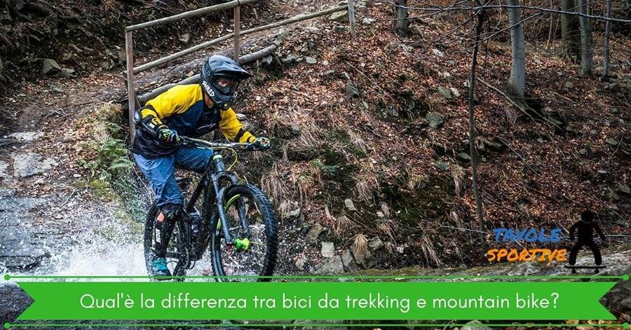 Qual'è la differenza tra bici da trekking e mountain bike?