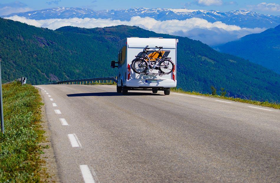biciclette con camper
