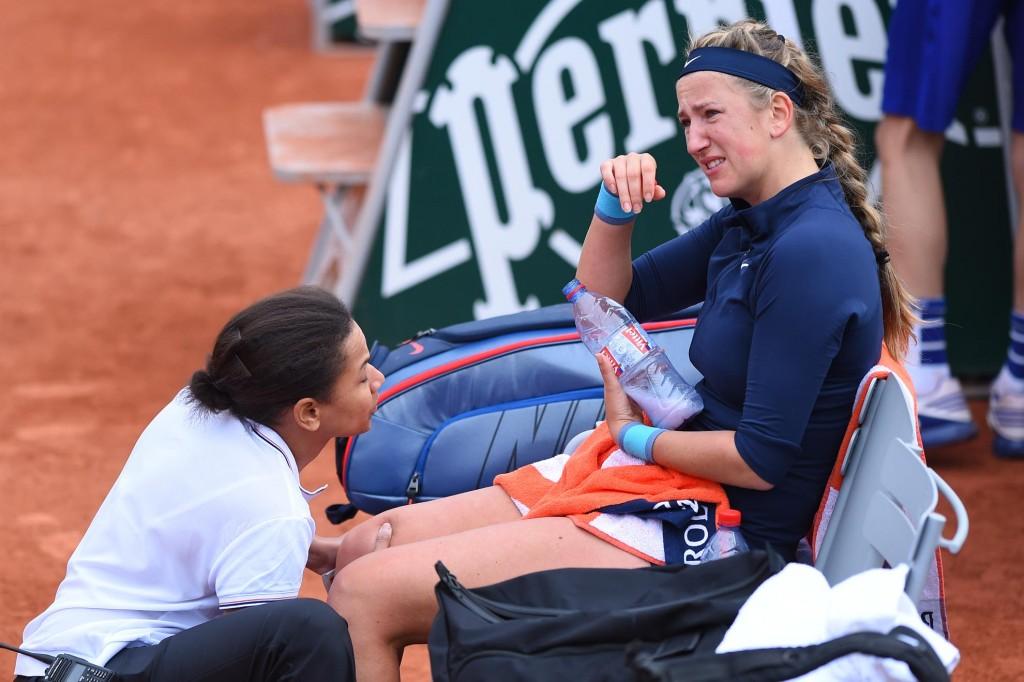 Roland-Garros : Azarenka, l'image qui fait mal au cœur
