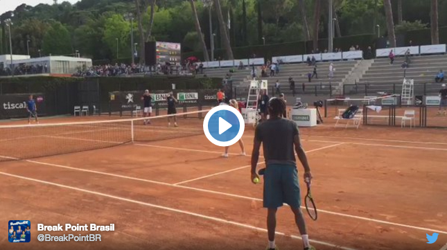 L'extension incroyable de Monfils à Rome