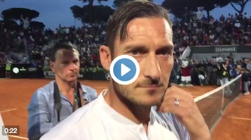 Les joueurs de la Roma, tennismen d'un soir