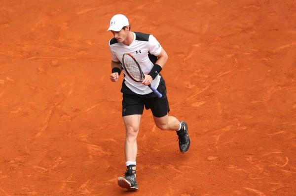 Andy Murray lors de sa demi-finale à Madrid contre Rafael Nadal, le 7 mai 2016.