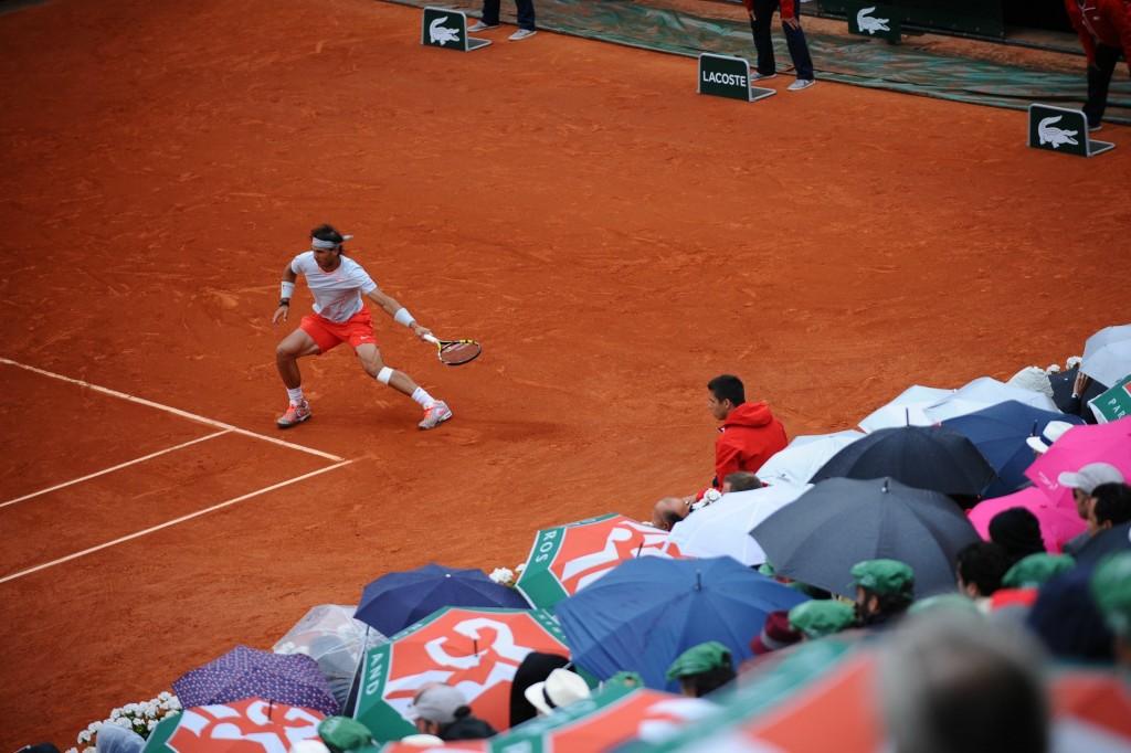 Les 10 photos de tennis qui vont vous faire aimer la pluie