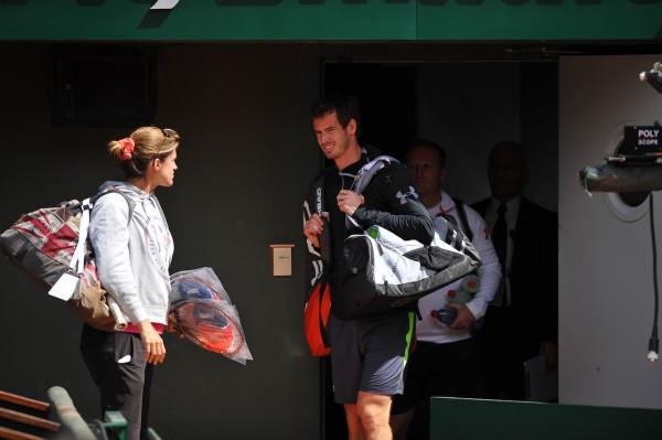 Amélie Mauresmo et Andy Murray travaillent ensemble l'an dernier à Roland Garros. Cette année, ils se sont séparés juste avant.