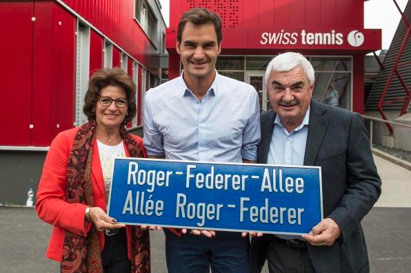 Une allée au nom de Roger Federer