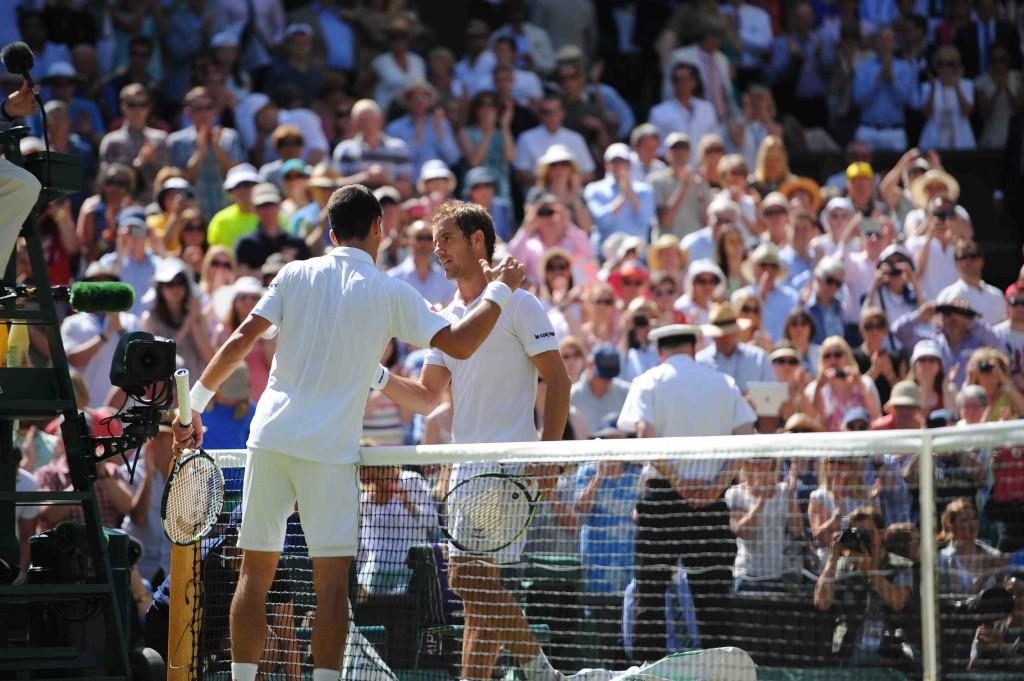 Wimbledon : Djokovic plus fort que Gasquet
