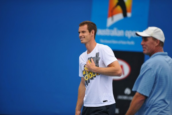 Andy Murray et Ivan Lendl, au début de leur collaboration, à l'Open d'Australie 2012.