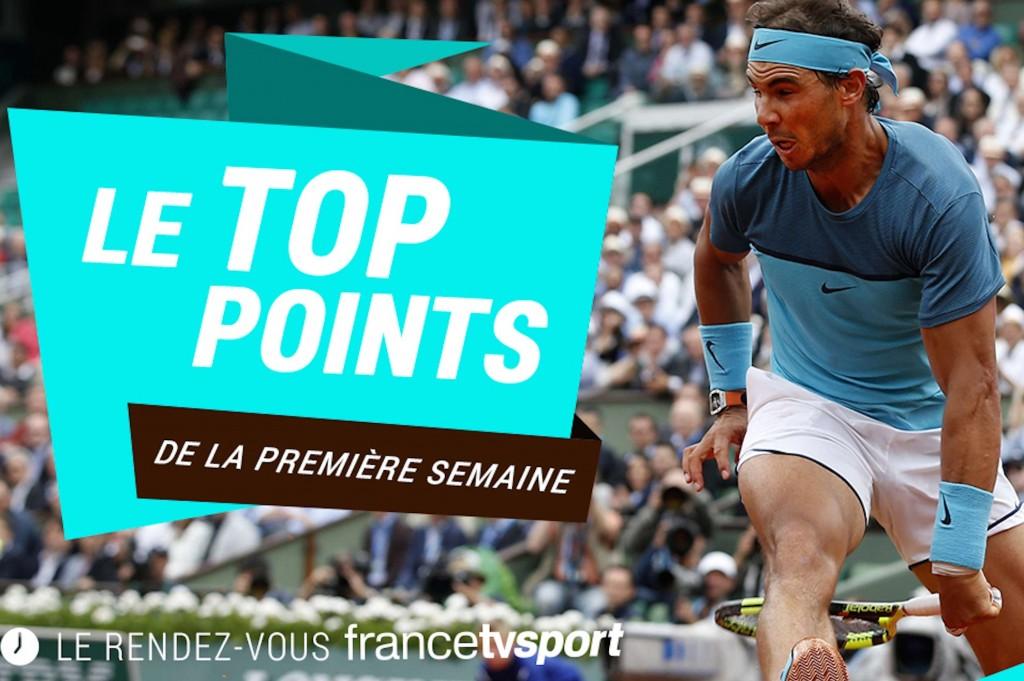 Roland-Garros : top 10 des plus beaux points de la première semaine
