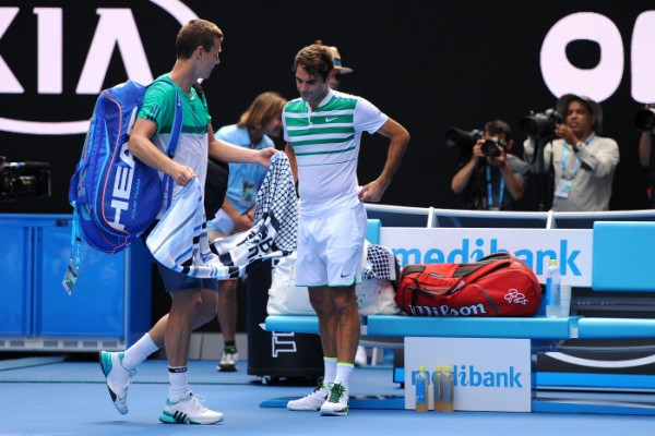 Roger Federer a remporté sa dernière victoire sur un top 10 à l'Open d'Australie face à Tomas Berdych.