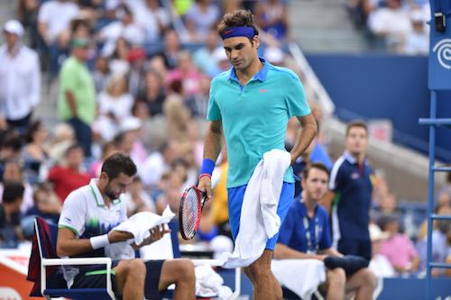 A la surprise générale, Federer s'était incliné face à Cilic en demies de l'US Open 2014.