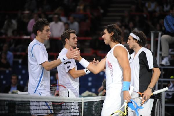 Associés en double à Bercy en 2008, Nico et Paulo s'étaient inclinés face à Nadal et Monaco.