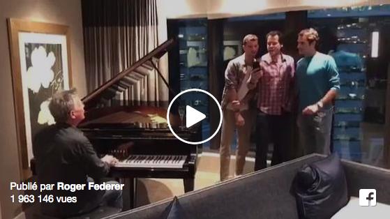 Vidéo : Federer, Dimitrov et Haas en chanson