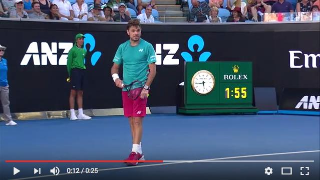Vidéo : Quand Wawrinka remet en place un fan de Federer !