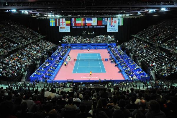 Le central de l'Arena de Montpellier.