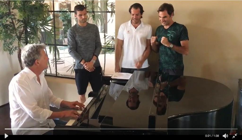 Vidéo : La nouvelle chanson de Federer, Haas, Dimitrov et Djokovic
