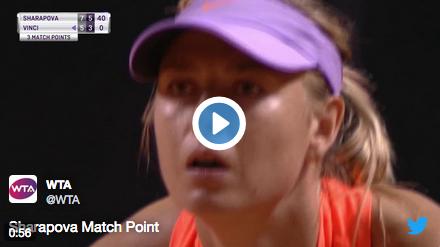 Sharapova : retour gagnant