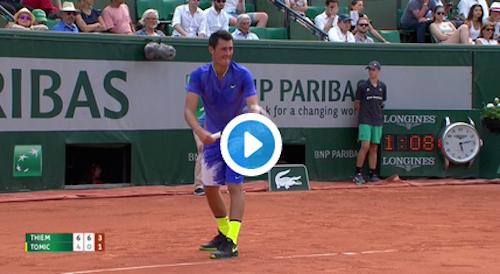 Vidéo : point du jour signé Thiem à Roland-Garros
