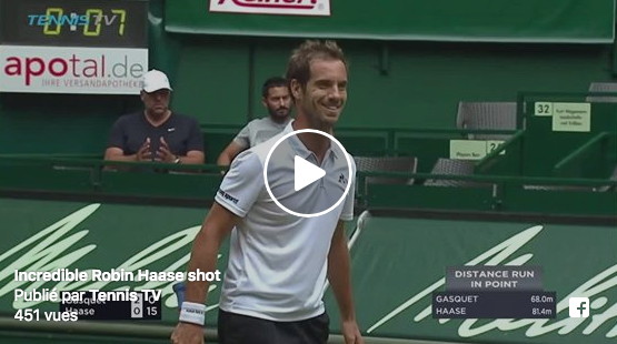 Vidéo : l'incroyable passing de Haase la raquette à l'envers
