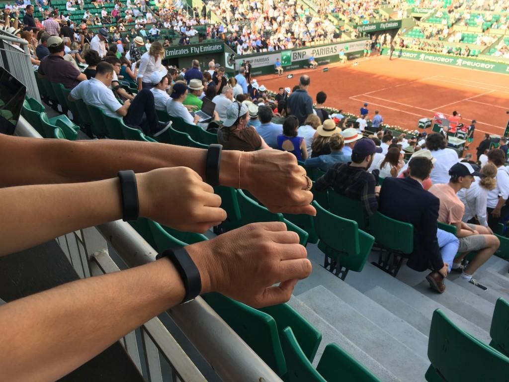 Un Roland-Garros « connecté » au Garmin vívosmart® 3 (épisode 2)