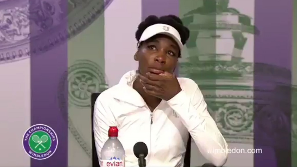 Wimbledon : les larmes de Venus Williams