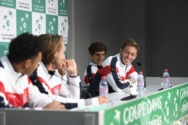 Davis Cup semi finale - France / Serbia