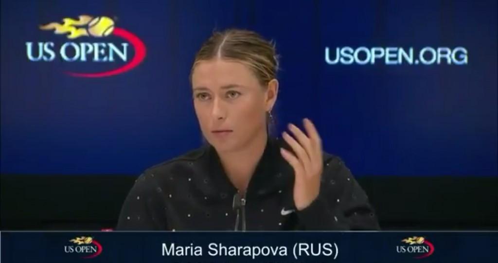 Vidéo : la réponse assassine de Sharapova à l'US Open