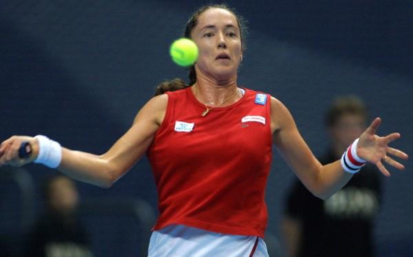 Sandrine Testud, grande héroïne de la victoire de la France en Fed Cup en 1997.
