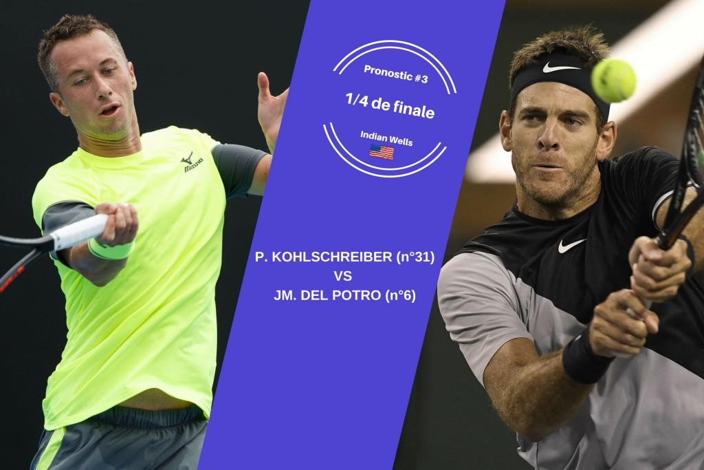 Indian Wells, le match du jour : Kohlschreiber-Del Potro