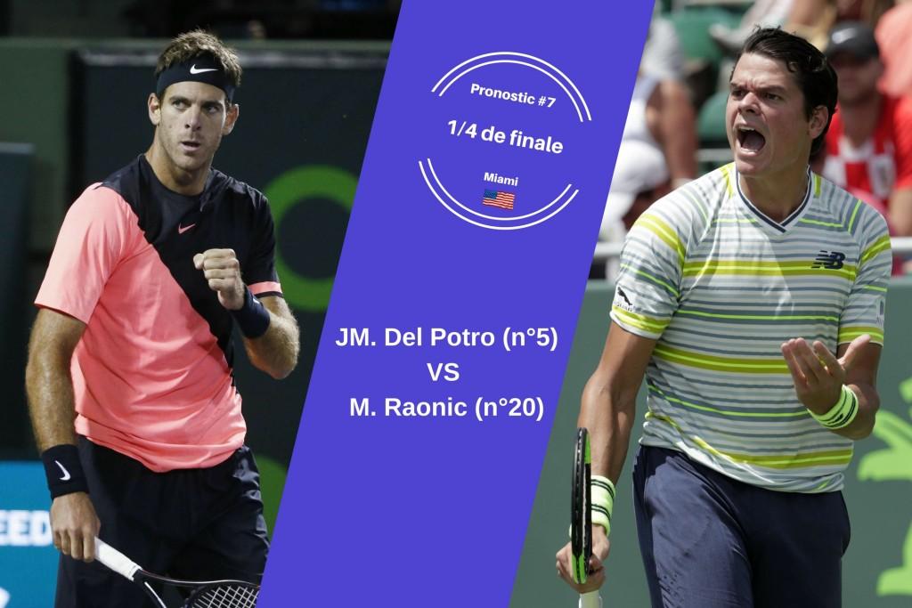 Miami, le match du jour : Del Potro-Raonic