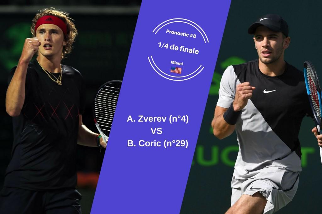 Miami, le match du jour : Zverev-Coric