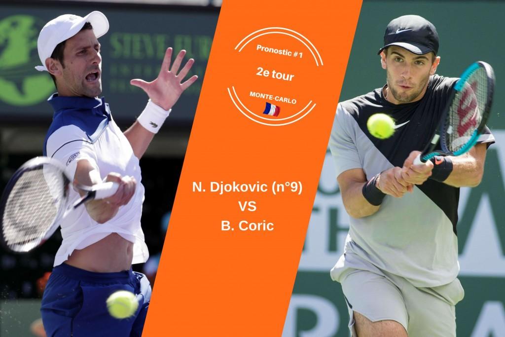 Monte-Carlo, le match du jour : Djokovic-Coric