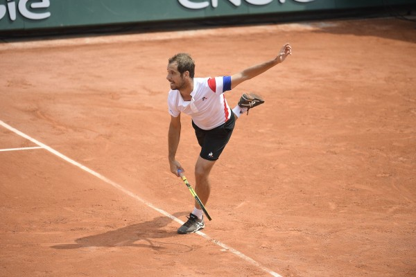 Richard Gasquet during a training session in Roland Garros stadium on wednesday may 23, 2018. Paris. France. PHOTO: CHRISTOPHE SAIDI / SIPA.//SAIDICHRISTOPHE_9000028/Credit:CHRISTOPHE SAIDI/SIPA/1805240934
