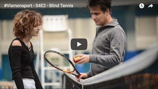 Quand Fabrice Santoro teste le Blind Tennis