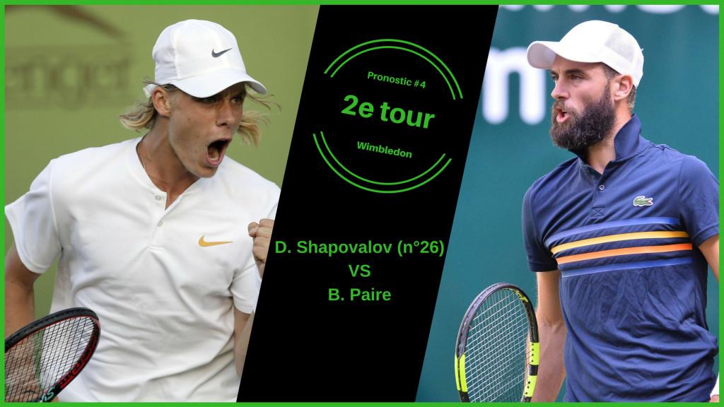 Wimbledon, le match du jour : Shapovalov-Paire
