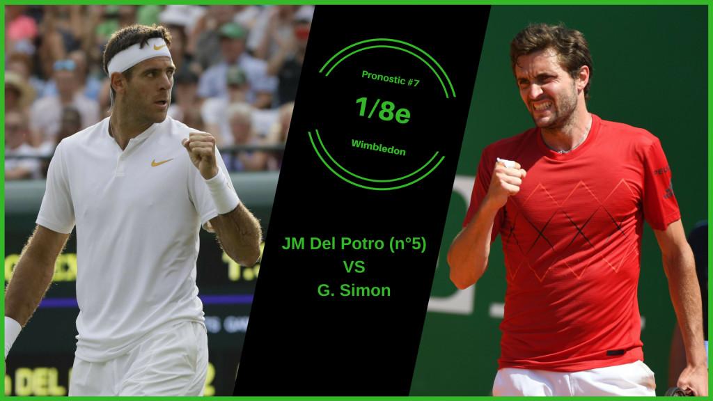 Wimbledon, le match du jour : Del Potro-Simon