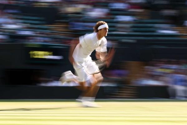 Alexander Zverev, battu par Ernests Gulbis dans un match en cinq sets dans lequel il n'a pourtant jamais vraiment trouvé son rythme de croisière.