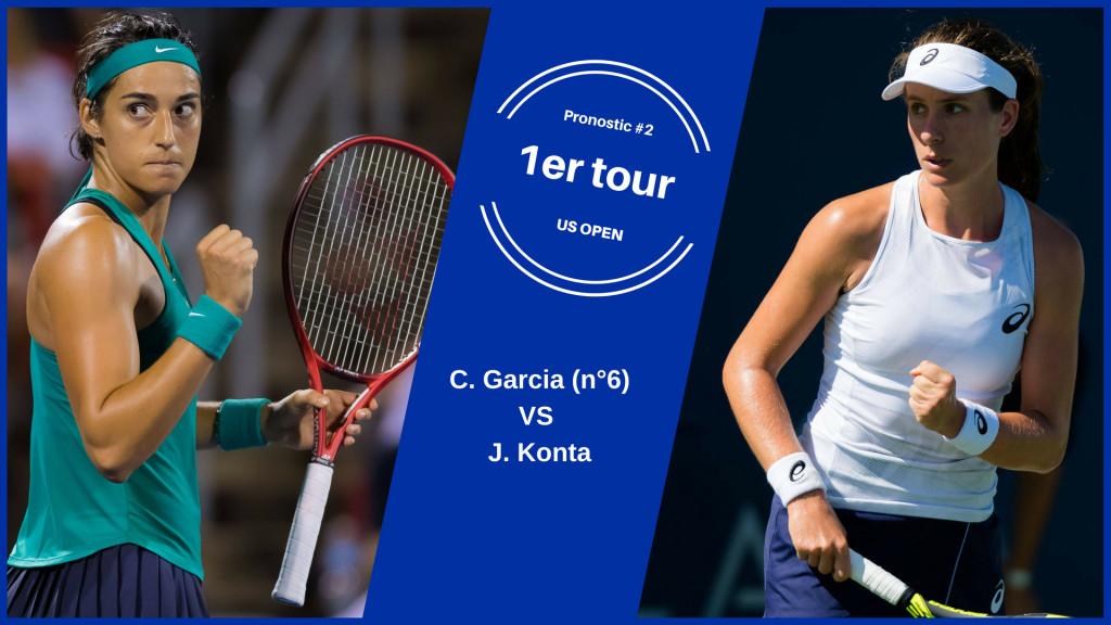 US Open, le match du jour : Garcia-Konta