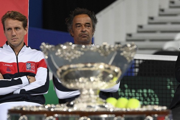 Yannick Noah during the Davis Cup's draw. Villeneuve d'Ascq, FRANCE-13/09/2018//SAIDICHRISTOPHE_1032.00582/Credit:CHRISTOPHE SAIDI/SIPA/1809131753