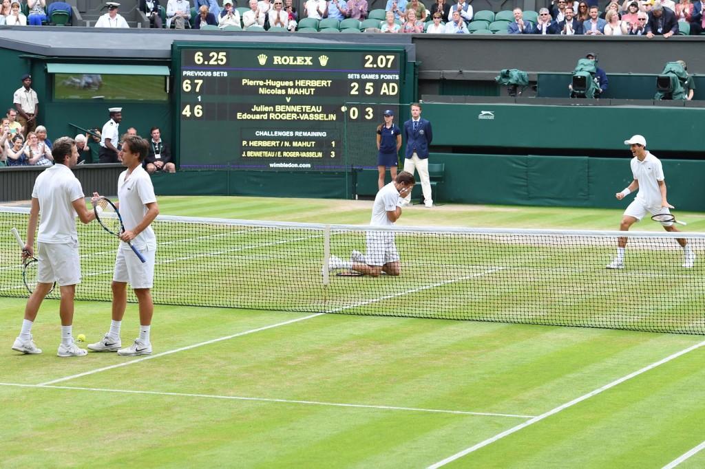Les photos d'un double français historique à Wimbledon!